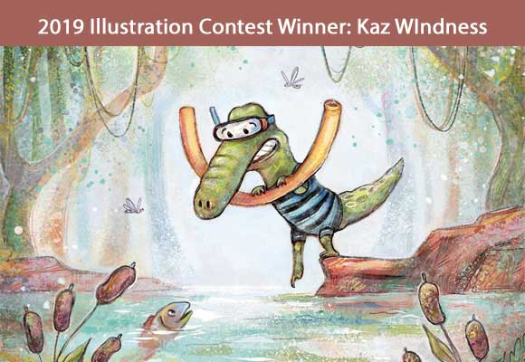 Our own Illustrator Coordinator Kaz Windness won the 2019 Illustration contest at the 2019 Fall Letters & Lines Conference. Kaz's illustration will be featured in a calendar and on merchandise that will be given to industry professionals at the 2020 Fall Conference. Calendars will be for sale to members and interested others. You can find out more about Kaz and her wonderful work here: Windness Books. Congratulations, Kaz!